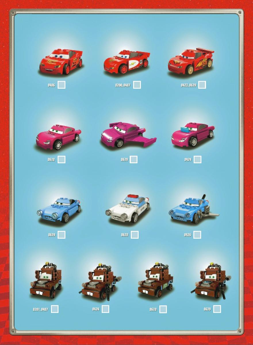 Seturile ce contin personajele LEGO Cars
