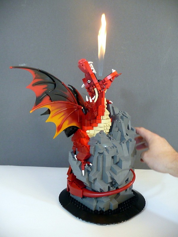 Real Fire-Breathing LEGO Dragon