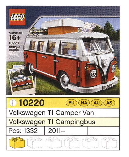 New 10220 Volkswagen T1 Camper Van