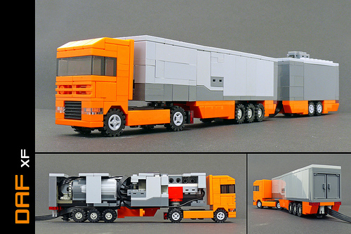Camion DAF telecomandat de dimensiuni 4xMicroscale