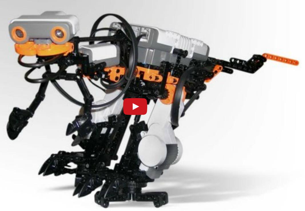 "Nxt2saurus robot ""umblator"" biped"