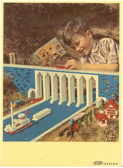 1960 Lego advertising postcard