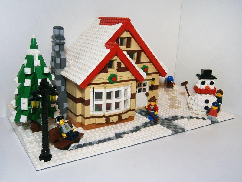 Casa pe timpul iernii