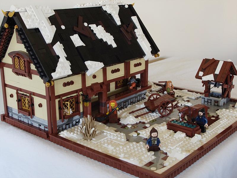 Casa medievala, iarna