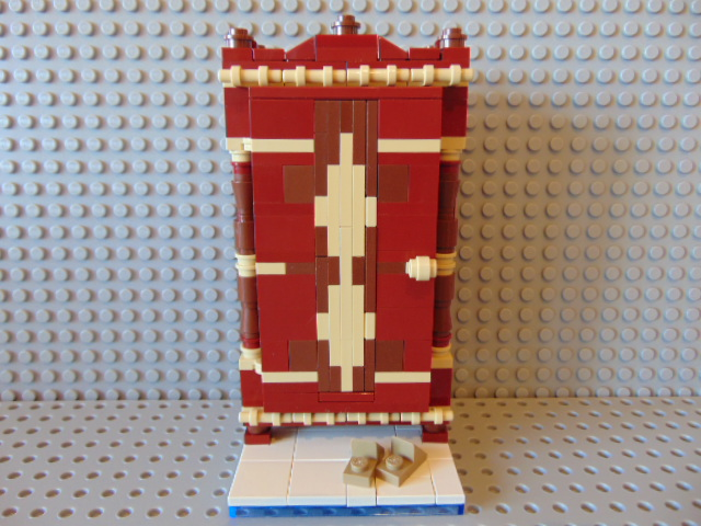 LEGO® MOC by Chyck: Dulap din lemn cu motive nationale