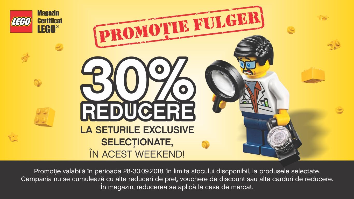 30% reducere la o selectie de seturi LEGO®